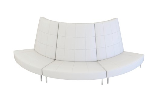 Endless Curved Sofa With Small High