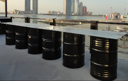 Oil Drum Table Event Rentals