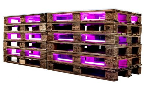 pallet bar large with light