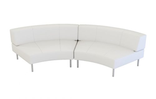 endless curved large back sofa