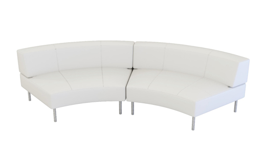 Endless Curved Sofa With Large Low Back