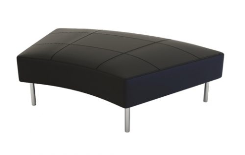 endless ottoman curved black