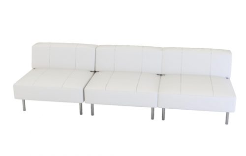 endless square low back 4-seater