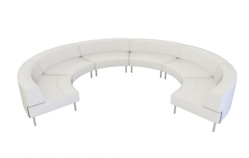 endless 3/4 sofa w/ large low back