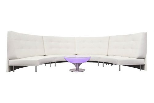 Curved Sofa With Large High Back 8 Seater