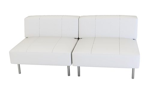 Endless square 2-3 seater sofa with low back