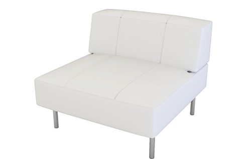 Endless white square with low back chair