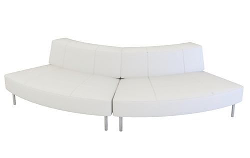 Endless Curved Sofa With Small Low Back