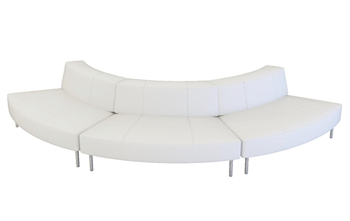 Endless Curved Sofa With Small Low Back 7 Seater Event