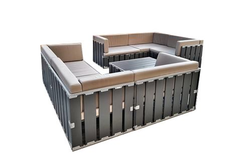 lounge crate grey