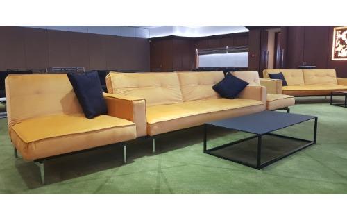 Sofa With Arm Rest Forest Green Velvet